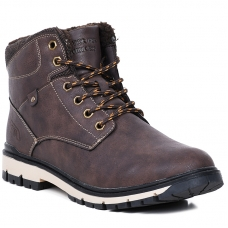 ANKLE BOOTS HJ82082 BROWN