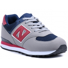 SNEAKERS AB670 GREY RED BLUE