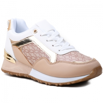 SNEAKERS AB904 WHITE/BEIGE