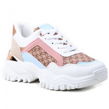 SNEAKERS AB922 WHITE-PINK